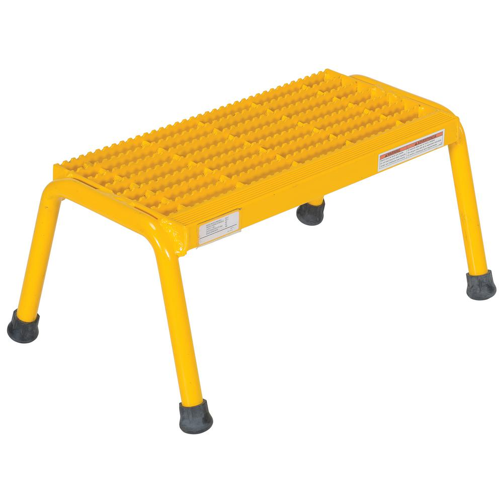 1-Step Yellow Aluminum Step Stand - Welded