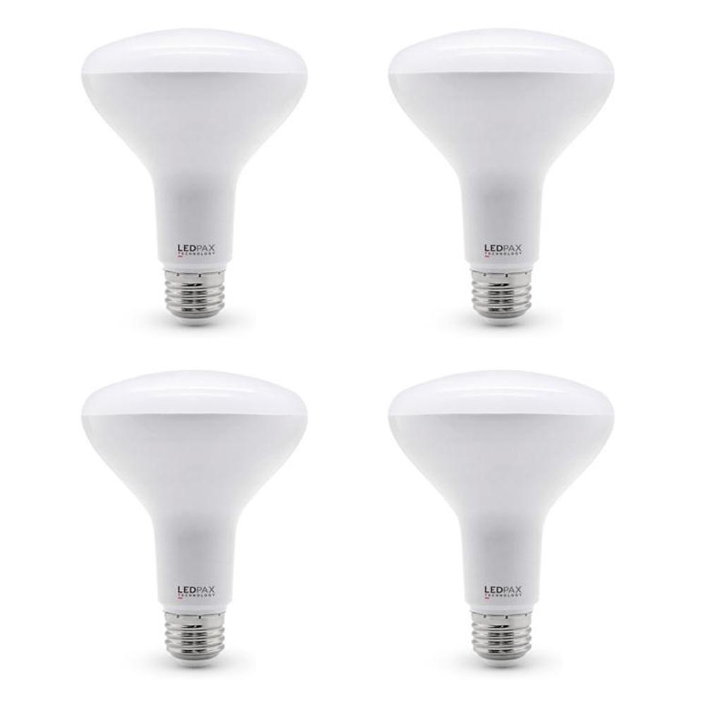 65-Watt Equivalent BR30 Dimmable LED Light Bulb (4-Pack)