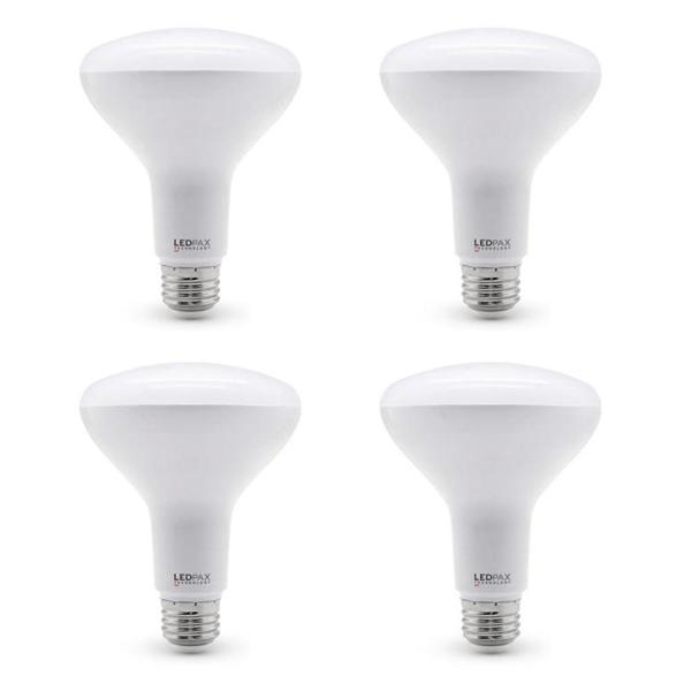 Ledpax Technology 65 Watt Equivalent Br30 Dimmable Led Light Bulb 4 Pack Br30 4k 4 The Home Depot