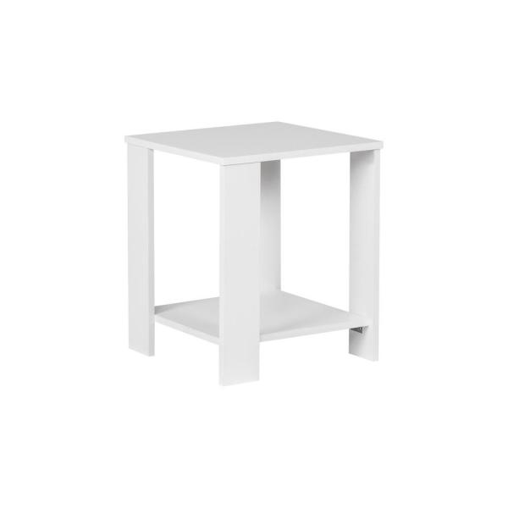 Alaska White End Table Set