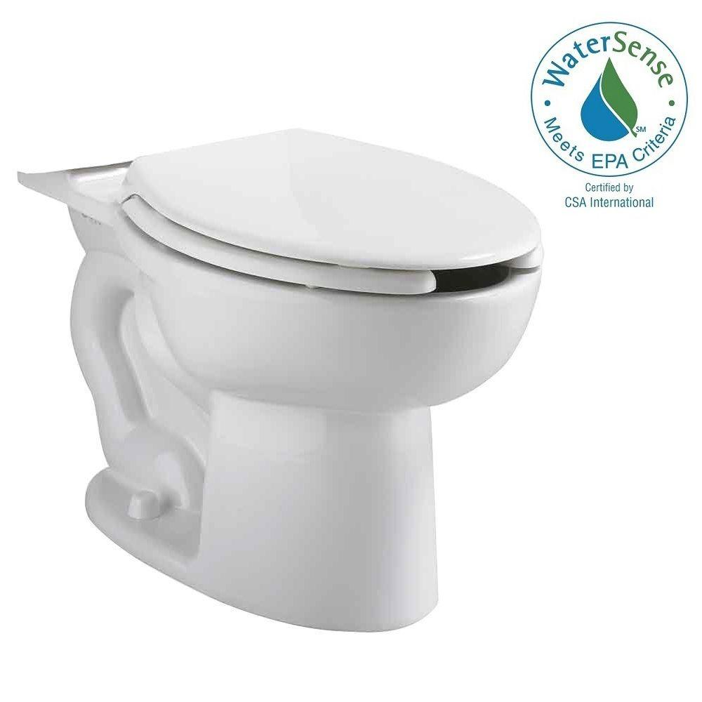 American Standard Cadet Elongated Pressure-Assisted Toilet Bowl Only with EverClean in White