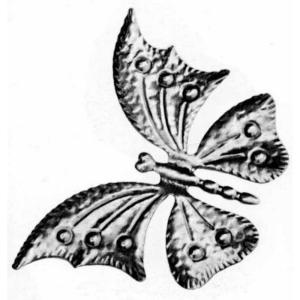 4-15/16 in. x 6-7/8 in. x 0.0197 in. Stamped Raw Iron Large Butterfly