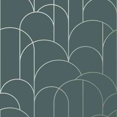 Arch Slate Geometric Paper Strippable Roll (Covers 57.8 sq. ft.)