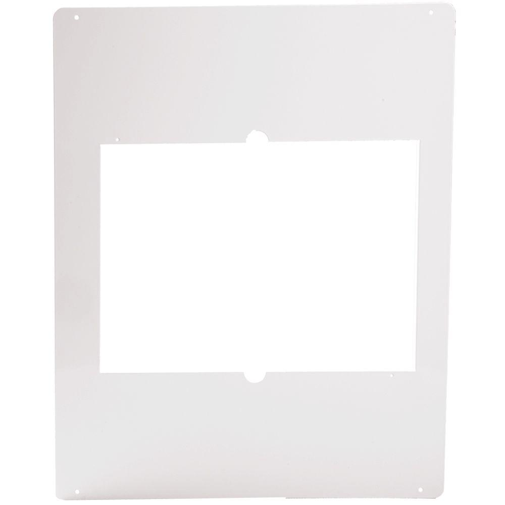 Com-Pak Twin Metal Adapter Plate in White