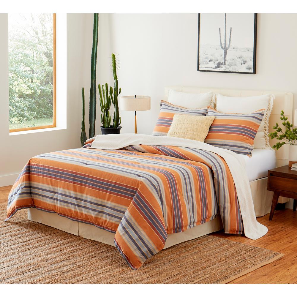 Casa Luis Navy 4-Piece Cotton Queen Comforter Set