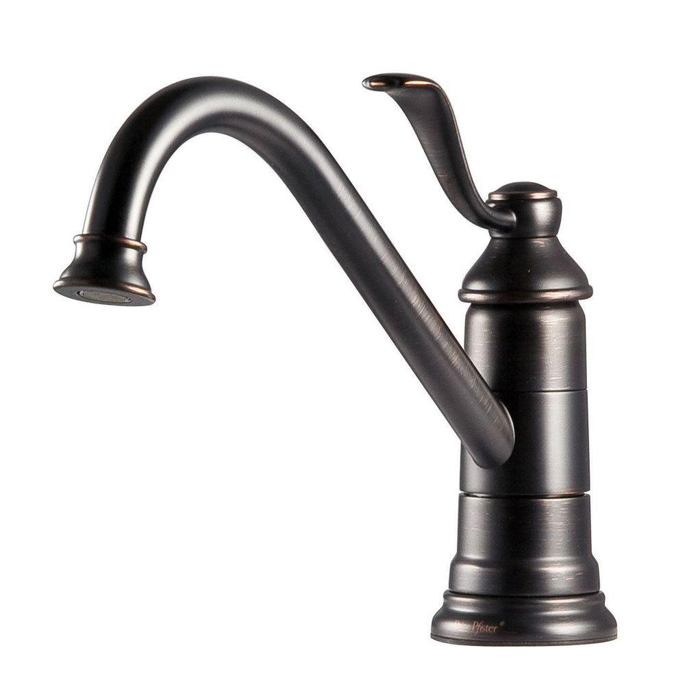 Pfister Portland Single Handle Standard Kitchen Faucet In Tuscan Bronze