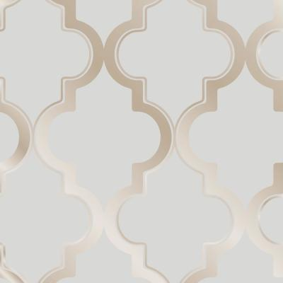 Marrakesh Bronze Gray Self-Adhesive, Removable Wallpaper