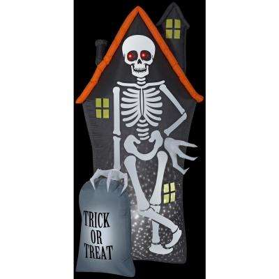 8 ft. H Projection StarSpinner-Skeleton and Haunted House Tombstone Scene-LG Halloween Inflatable