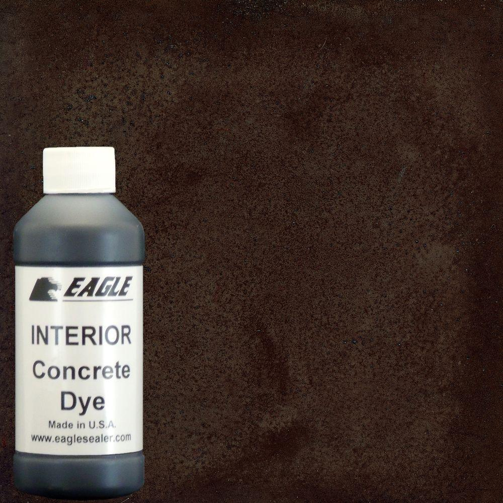 Eagle 1 gal. Malt Brown Interior Concrete Dye Stain Makes with Water from 8 oz. Concentrate