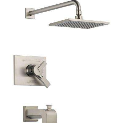 Vero 1-Handle Tub and Shower Faucet Trim Kit in Stainless (Valve Not Included)