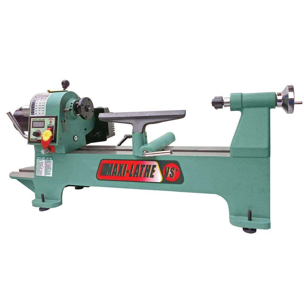 General International 12 in. x 17 in. Variable Speed Maxi-Lathe VS+
