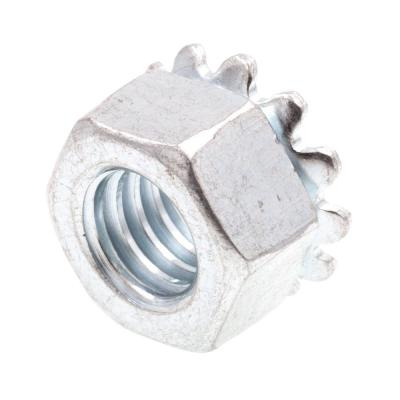5/16 in.-18 Zinc Plated Steel K-Lock Nuts with External Tooth Washer (50-Pack)