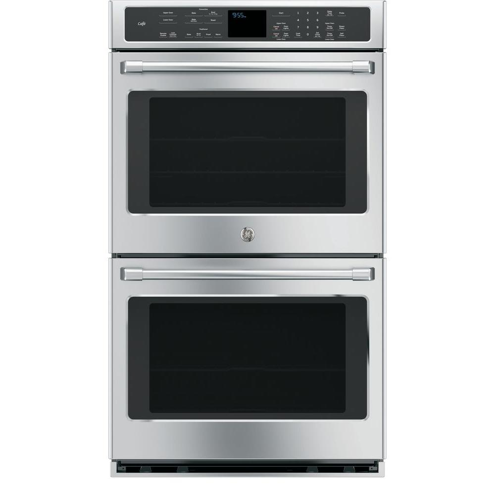 Double Electric Smart Wall Oven Self Cleaning With Convection And Wifi