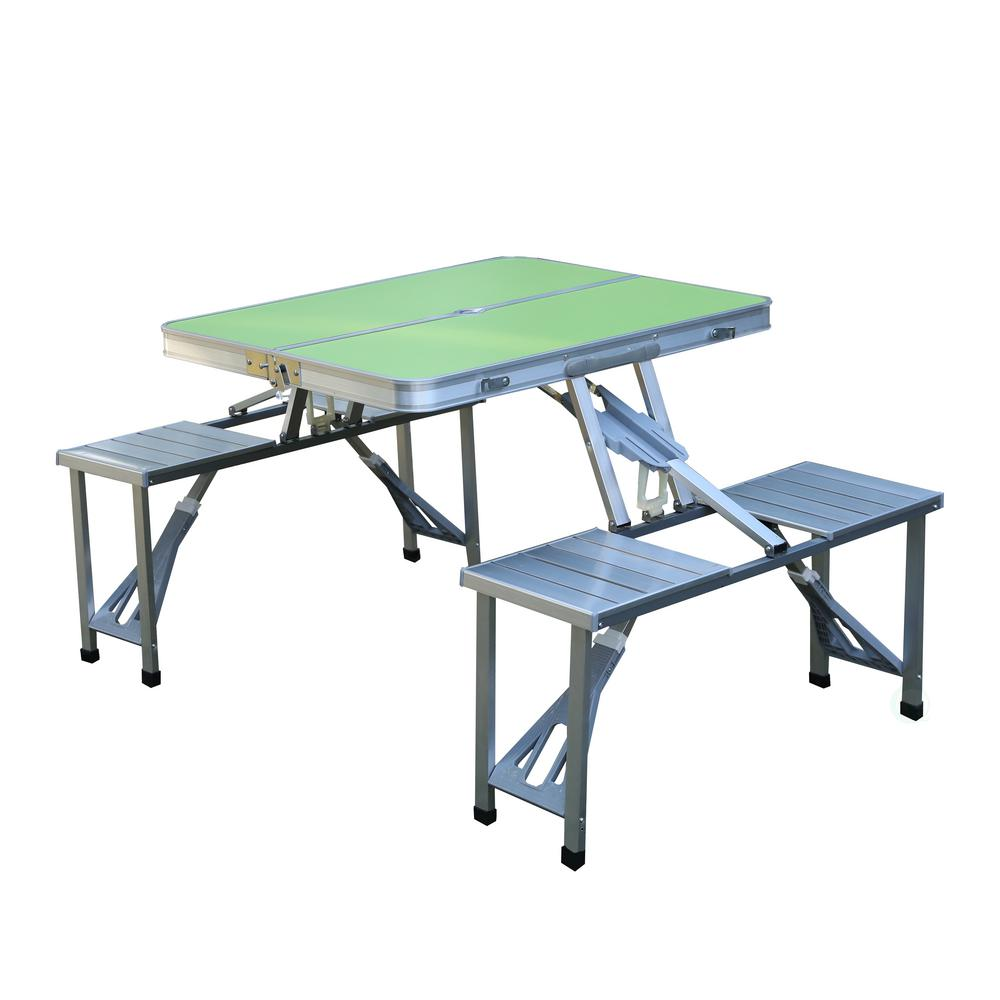 picnic tables patio tables the home depot. Black Bedroom Furniture Sets. Home Design Ideas