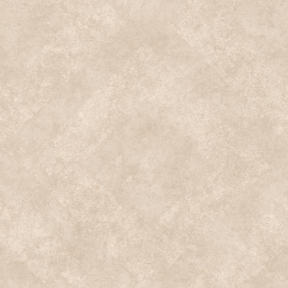 57.8 sq. ft. Classic Royal Cream Geometric Stone Wallpaper
