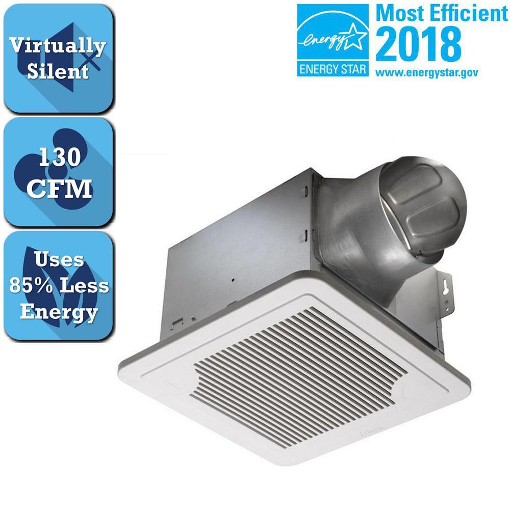 Delta Breez Smart Series 130 CFM Ceiling Bathroom Exhaust Fan, ENERGY STAR