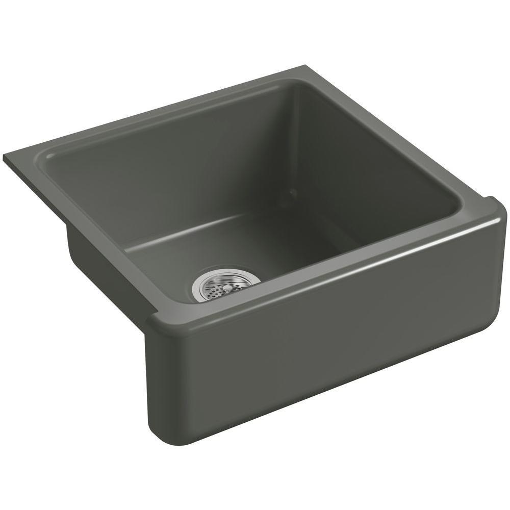 White Undermount Single Bowl Kitchen Sink  Inch