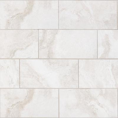 Canyon Gate Oyster White Matte 12 in. x 24 in. Glazed Porcelain Floor and Wall Tile (15.6 sq. ft./Case)