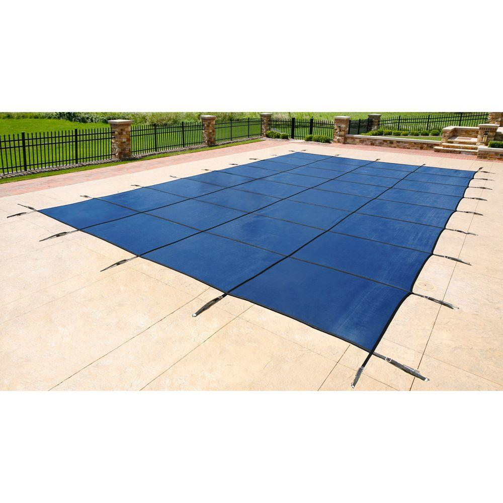 Blue Wave 18 Ft X 36 Ft Rectangular Blue In Ground Pool Safety Cover Bws360b The Home Depot