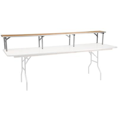 96 in. Natural Wood Tabletop Folding Table Riser