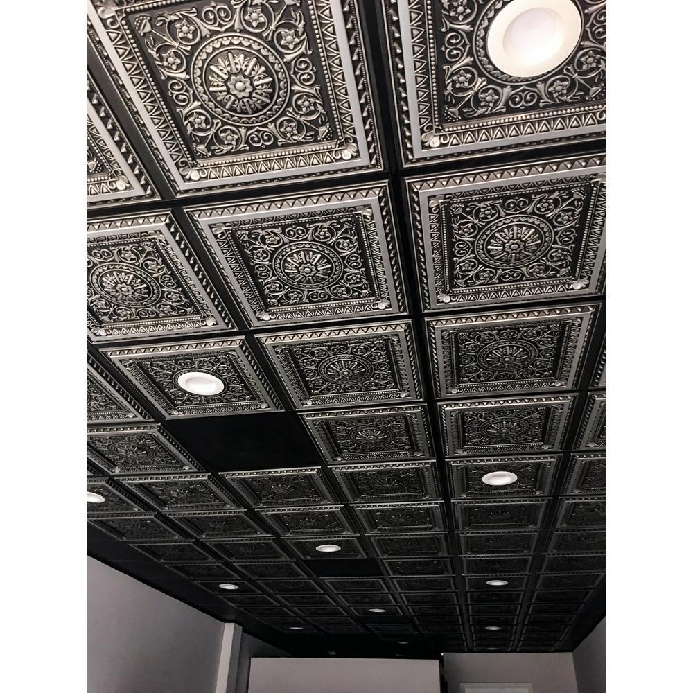 Silver 2 X 2 Vinyl Ceiling Tiles Ceilings The Home Depot