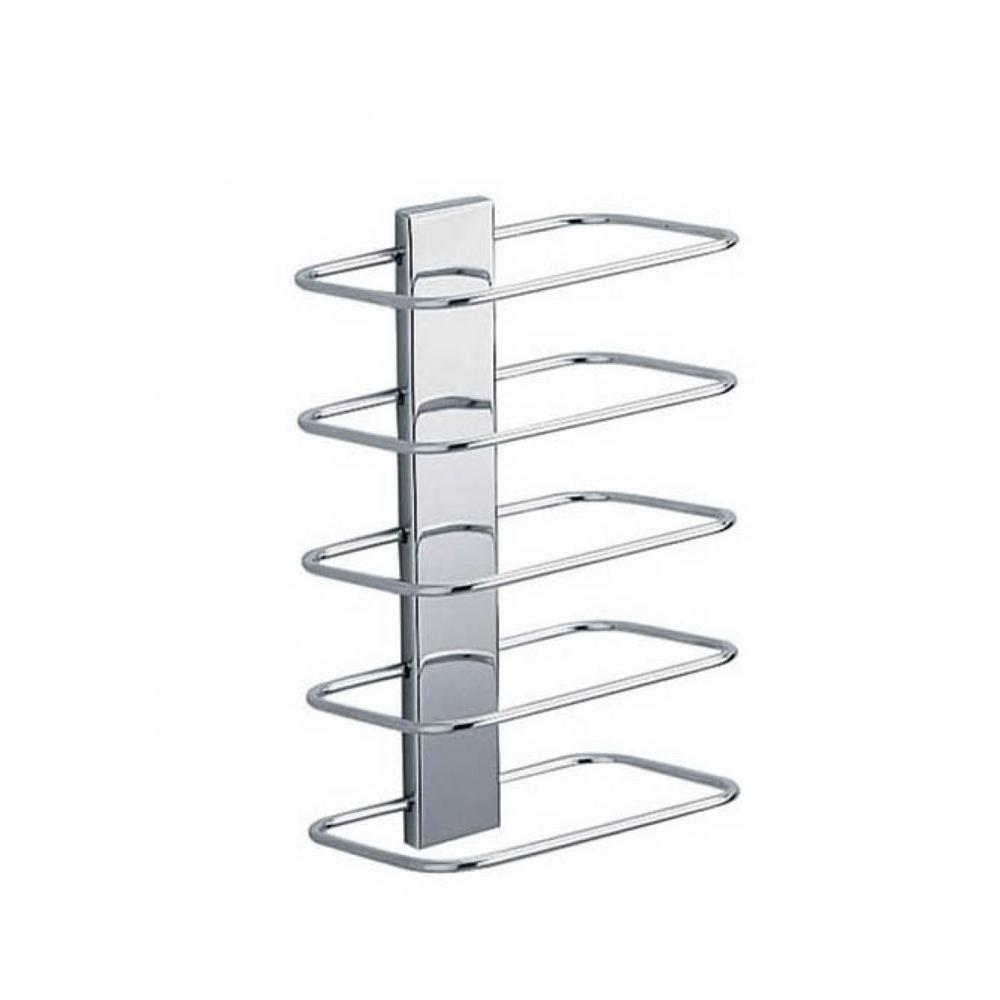 Ws Bath Collections Wall Mounted 5 Bar Towel Rack In Polished Chrome Hotel Wsbc A0467n The Home Depot