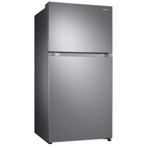 Samsung 21 1 Cu Ft Top Freezer Refrigerator With Flexzone Freezer In Stainless Energy Star Rt21m6213sr The Home Depot