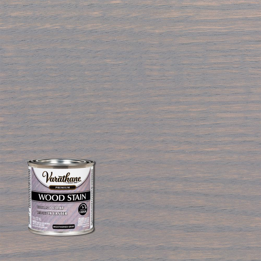 Varathane 8 oz. Weathered Gray Premium Fast Dry Interior Wood Stain