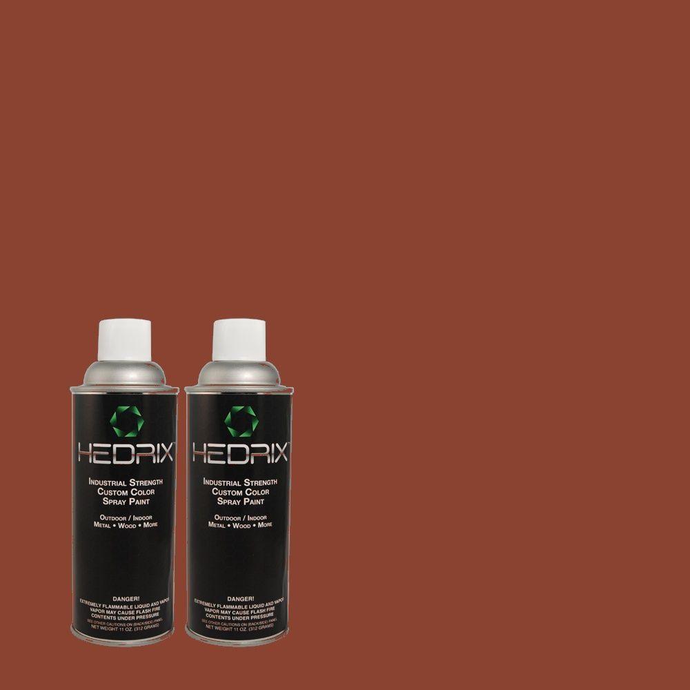 Hedrix 11 oz. Match of PPU2-2 Red Pepper Flat Custom Spray Paint (2-Pack)