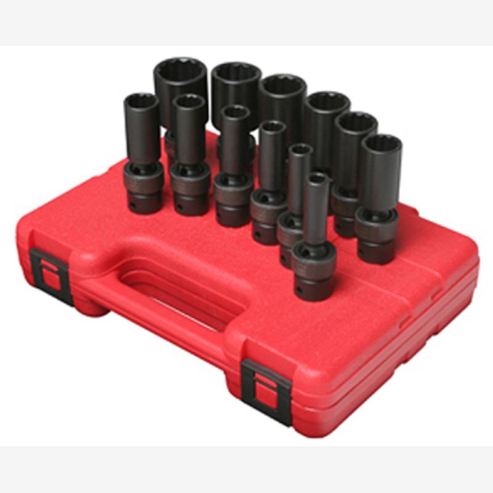 "9 piece 1//2/"" Drive 12 Point Metric Driveline Socket Set SUN2695 Brand New!"