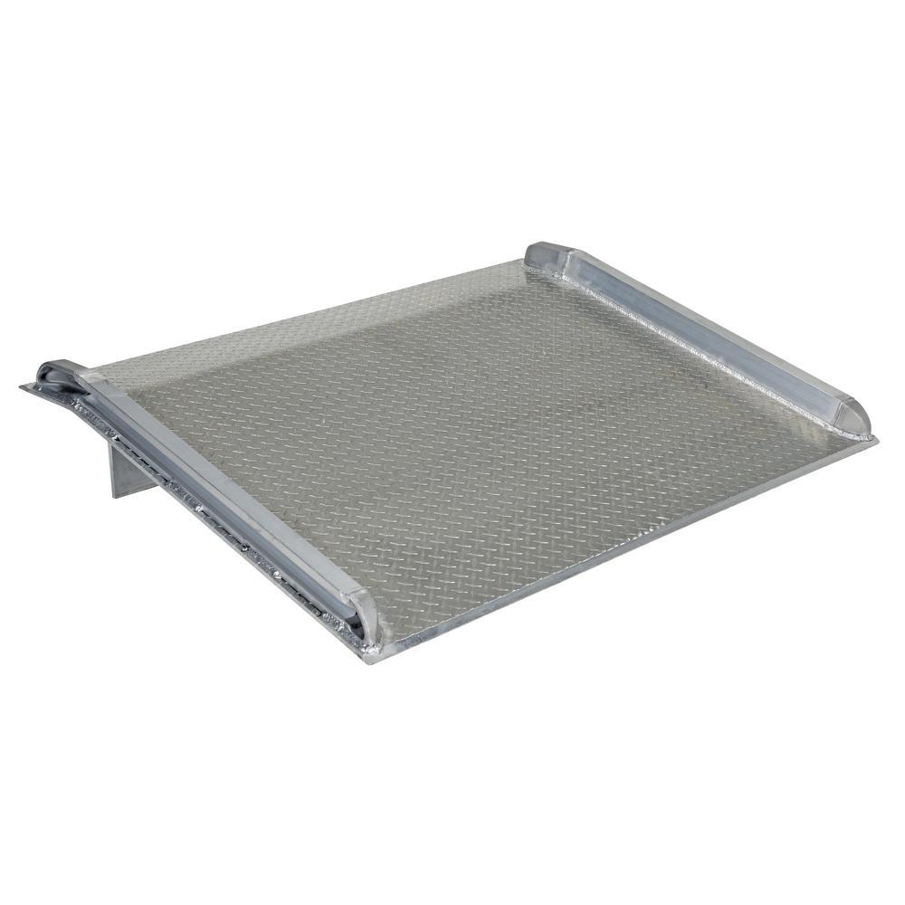 Silver 54 x 84 8000 lb Vestil BTA-08005484 Aluminum Truck Dockboard Capacity