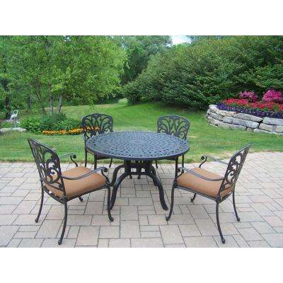 Hampton 5-Piece Patio Dining Set with Sunbrella Cushions