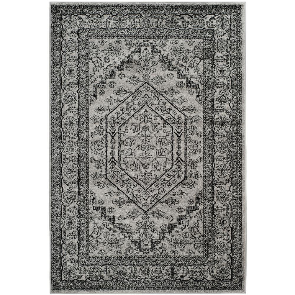 Adirondack Silver/Black 5 ft. x 8 ft. Area Rug