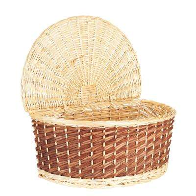 Half-moon Wicker Basket with Lid