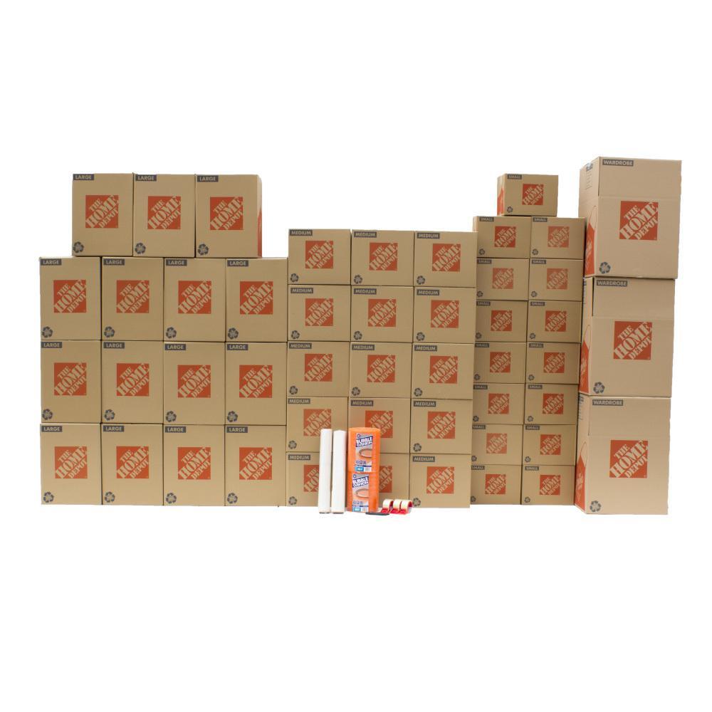 the home depot 48 box large packing kit 701167 the home depot. Black Bedroom Furniture Sets. Home Design Ideas