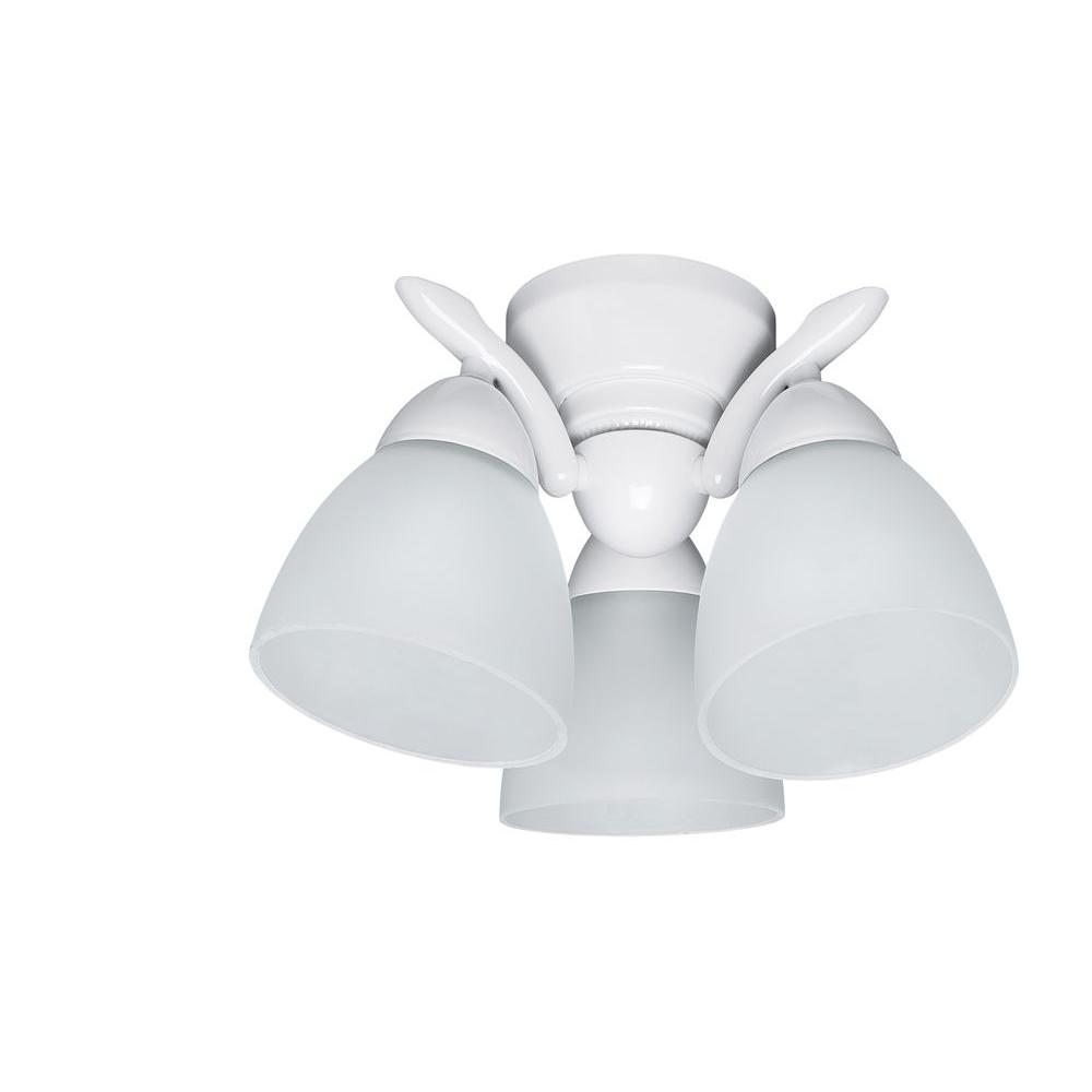 Hunter 3-Light White Contemporary Ceiling Fan Down Light Kitt-DISCONTINUED