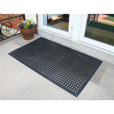 Indoor/Outdoor Durable Anti-Fatigue 24 in. x 36 in. Industrial Commercial Home Restaurant Bar Rubber Floor Mat (3-Piece)