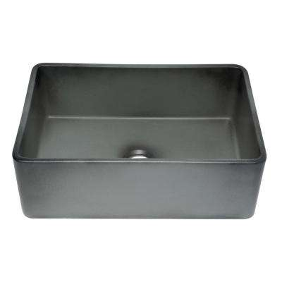 Farmhouse Fireclay 30 in. Single Bowl Kitchen Sink in Concrete