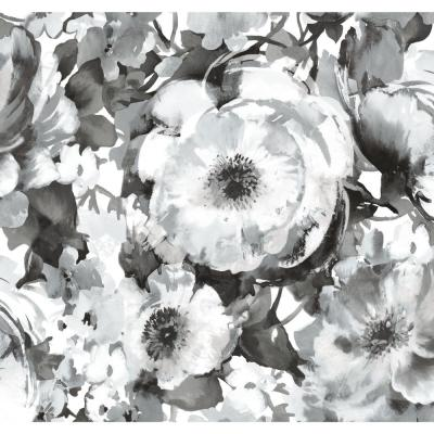 60 sq. ft. Watercolor Floral Peel and Stick Wallpaper