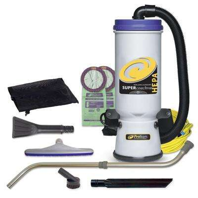 Super CoachVac HEPA 10 qt. Backpack Vacuum Cleaner with Small Business Tool Kit