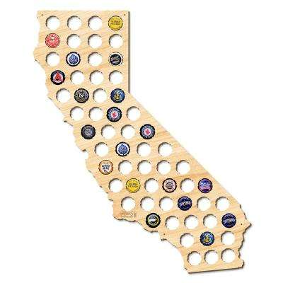 21 in. x 18 in. Large California Beer Cap Map