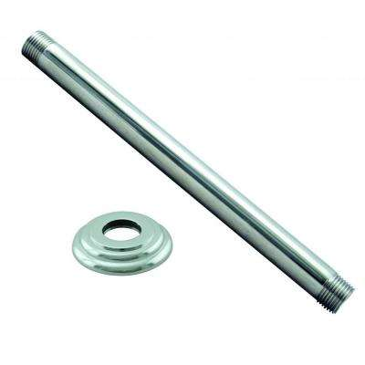6 in. Ceiling Mount Shower Arm with Flange, Polished Chrome
