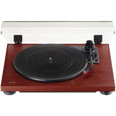 3-Speed Analog Auto-Return Turntable in Cherry