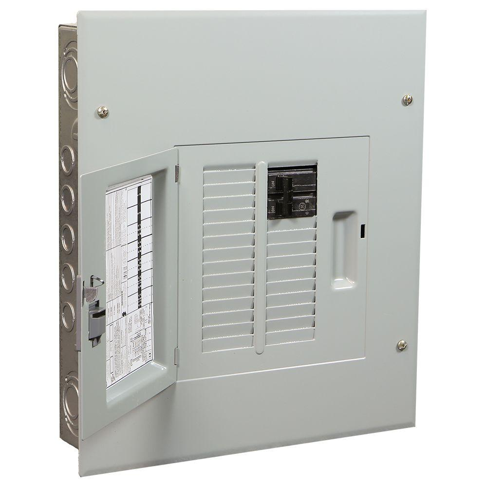 Ge powermark gold 100 amp 12 space 22 circuit indoor main for Best circuit breaker panel