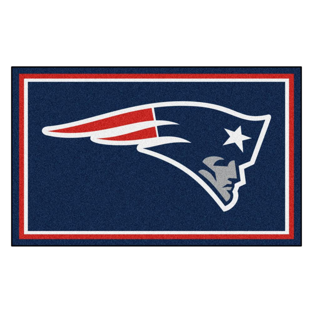 Fanmats New England Patriots 4 Ft X 6 Area Rug