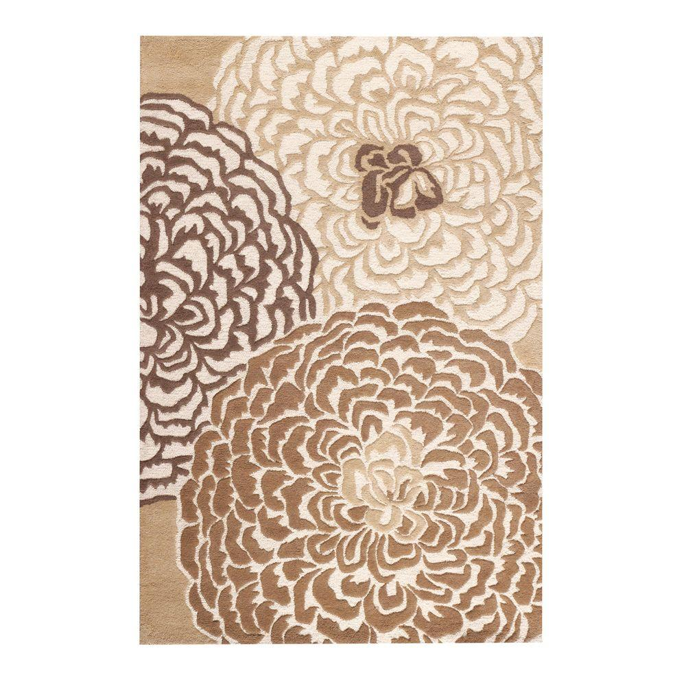 Home Decorators Collection Amity White/Beige/Taupe 5 ft. 3 in. x 8 ft. Area Rug