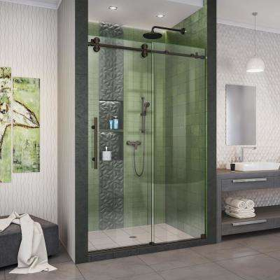 Enigma-XO 44-48 in. W x 76 in. H Fully Frameless Sliding Shower Door in Oil Rubbed Bronze
