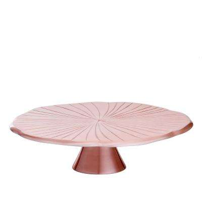 "12-1/2 in. D Rose Gold ""Lily Pad"" Cake Stand"