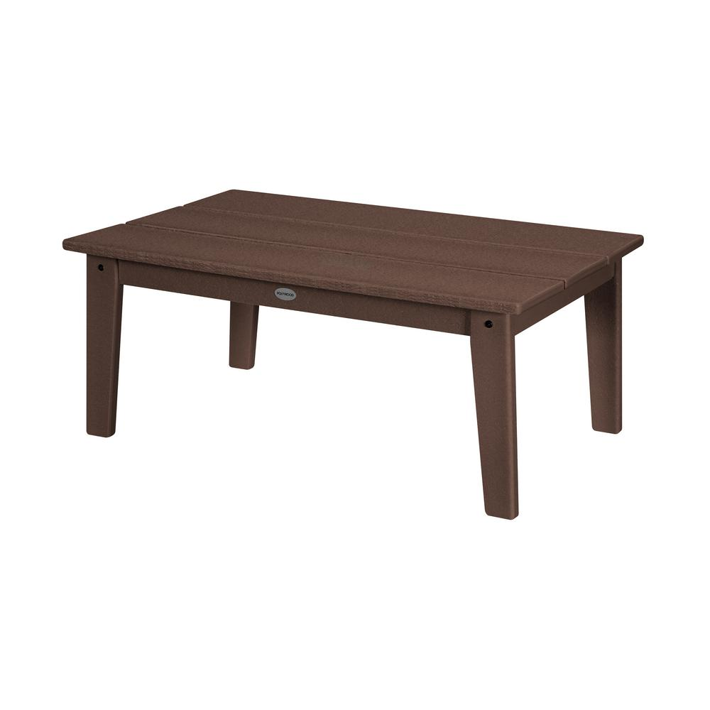 POLYWOOD Grant Park Mahogany Plastic Outdoor Coffee Table