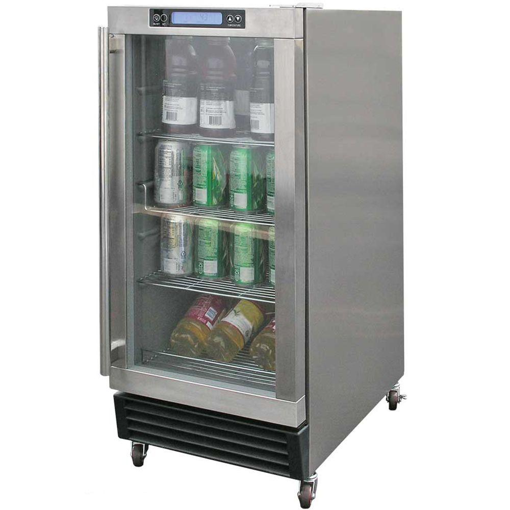 Cal Flame 3.25 cu. ft. Built-In Outdoor Beverage Cooler in Stainless Steel